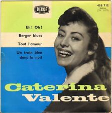 "CATERINA VALENTE ""BERGER BLUES"" 50'S EP DECCA 455.712"