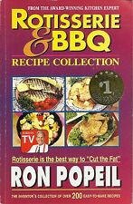 ROTISSERIE & BBQ RECIPE COLLECTION SOFTCOVER COOKBOOK FROM RON POPEIL 1998  9/16