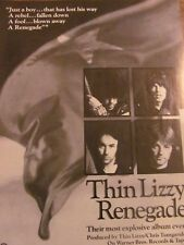 Thin Lizzy, Renegade, Full Page Vintage Promotional Ad