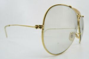 Vintage B&L Ray Ban aviator shooter sunglasses etched BL USA KILLER