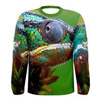 New Chameleon colorful Sublimated Men's Long Sleeve T-shirt S M L XL 2XL 3xl