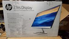 HP 27es Full HD 27 Inch IPS LED Monitor, Natural Silver