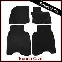 HONDA CIVIC TYPE-S Pre-facelift Mk8 2006-2008 Tailored Carpet Car Mats BLACK