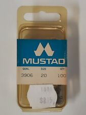 New listing 100 Mustad 3906 size 20 Hooks Superior Sproat Made in Norway Wet Nymph Hooks