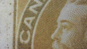 "SC#113 ""marching ants"" in margin - 7c yellow ochre KGV Admiral"
