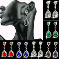 Women Dangle Rhinestone Elegant Crystal Vintage Drop Ear Stud Earrings Jewelry