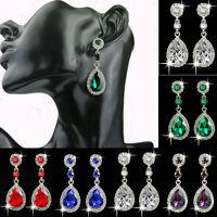 Women Dangle Rhinestone Elegant Crystal Vintage Drop Ear Stud Earrings Jewelry