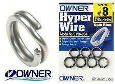 Owner Hyperwire Split Rings #5196 Hook to Lure Connection Coarse Fishing Ring