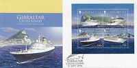 GIBRALTAR 2006 CRUISE LINERS (1ST) MINIATURE SHEET FIRST DAY COVER