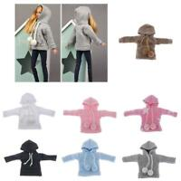 """Handmade 12"""" Doll Clothing Casual Hoodie for Blythe 1/6 Dolls Outfits"""