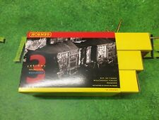 Hornby R6155A BR brown ore wagons (weathered) - Pack of 3