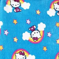 Vintage Hello Kitty Fleece Blanket Rainbow Stars