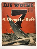 August 1936 Die Woche German News Magazine w/ Nazi and Olympics News