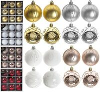 9 Pack 6cm (60mm) Christmas Tree Ornaments Hanging Luxury Baubles Xmas Decor