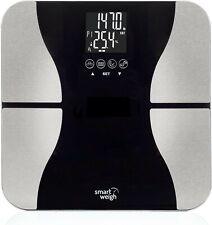 Smart Weigh Digital Bathroom BMI Body Fat Weight Scale, Tempered Glass, Black