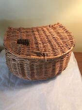 Vintage Fly Fishing Basket Creel Kreel Willow Fishing Basket