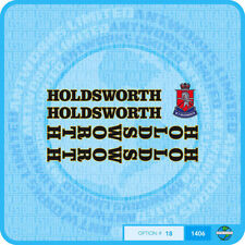 Holdsworth - Bicycle Decals Transfers Stickers - Black Fill & Gold Key - Set 18