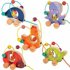 Janod Mini Looping Pull Along Wooden Baby Toy Turtle