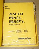 2004 Komatsu WA200 WA200PT Wheel Loader Shop Manual Parts Book P/N CEBM013001