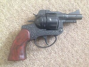 CRESCENT TOYS S-AGENT CAP GUN made in England TOY REVOLVER.No.2 NICE
