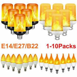 4/8X E27 E14 B22 Bulbs LED Flicker Light Flame Bulbs Effect Fire Decoration Lamp