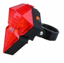 Agptek Bicycle Rear Tail Safety Warning 8 LED 2 Laser Flashing Lamp Light