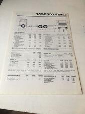 Prospekt Volvo FB 89 6x2 LKW , Technische Daten, 1977, Deutsch, BJ 77