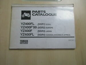 Yamaha YZ 400 Fl YZ400F Catálogo de Piezas Repuesto Lista 295GR-100E1