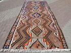 "Vintage Turkish Kilim, Orange Colored Antique Rug, Wool Rugs 64,9""X162,2"" Carpet"