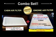 ENGINE&CABIN AIR FILTER For Toyota COROLLA & MATRIX 2003-2008 US Seller