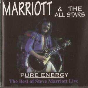 STEVE MARRIOTT & THE ALL STARS PURE ENERGY CD BEST OF STEVE MARRIOTT LIVE