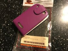PURPLE BLACKBERRY CURVE (9360) MOBILE PHONE FLIP CASE PU LEATHER WALLET