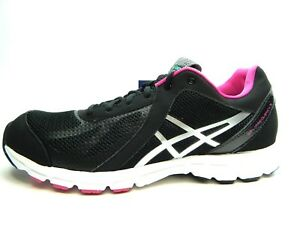ASICS GEL FREQUENCY 3 COMFORT HEALTH BLACK SILVER WOMEN SHOES SIZE 6