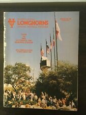 1980 College Football Program - SMU At Texas Longhorns- Eric Dickerson -Complete