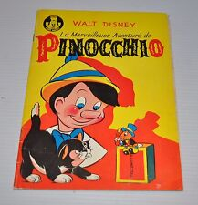 PINOCCHIO French Comic Book 1963 Walt Disney - Brodard et Taupin