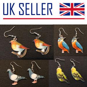 Bird Earrings - Gift, Robin, Finch, Parrot, Pigeon, Cockatiel, Budgie, Tit, Duck
