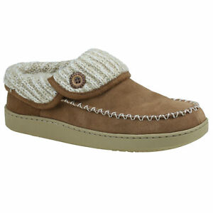 Planet Shoes Rusty Womens Comfort Slipper in Chestnut Brown Leather