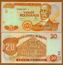 Bolivia, 20 Bolivianos, L. 1986 (2012) Pick New, Serie I, UNC