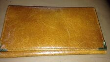 Vintage leather wallet Tan note compartments