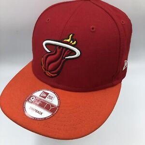 Miami Heat New Era 9Fifty Hardwood Classics Snapback Adjustable Baseball Hat Red