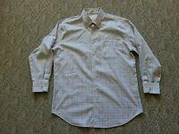 EUC Peter Millar Men's Long Sleeve Button Down Shirt Nanoluxe Plaid Size Large