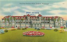 """GULFPORT MS """"THE GREAT SOUTHERN HOTEL"""" LINEN P/C"""