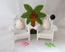 Wedding Reception Real Seashell Adirondack Flip Flops Cake Topper Beach Chairs