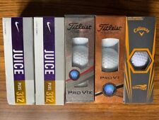 Golf Balls 5 sleeves, new in box Titleist, Nike and Callaway