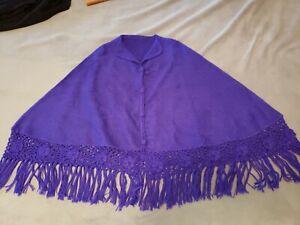 Purple Alpaca Cape/Poncho Made in Maryland NEW