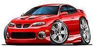 2004 2005 2006 Pontiac GTO Red Hot Metallic t-shirt holden in sizes S-3XL