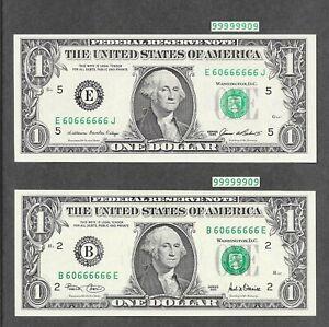 ( 2 ) $1 *Binary + Flipper + Fancy Matching 7 of A Kind Poker # 60666666* Notes