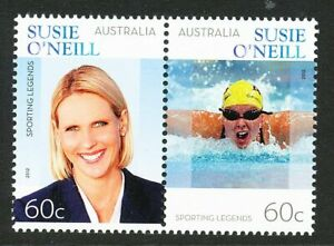 Australia 2012 Sporting Legend Susie O'Neill, set of 2, mint never hinged