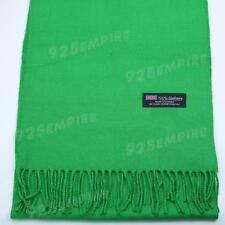 Men Women unisex 100% CASHMERE Grass Green Warm PLAIN Scarf pure Wool