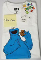 UNIQLO KAWS X SESAME STREET GRAPHIC T-SHIRT COOKIE MONSTER WHITE S